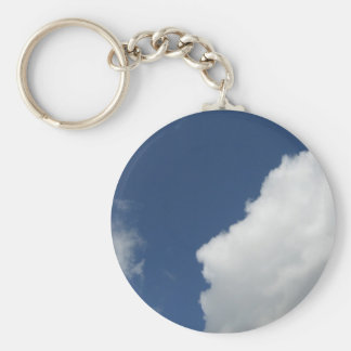 FACE IN THE CLOUDS BASIC ROUND BUTTON KEY RING