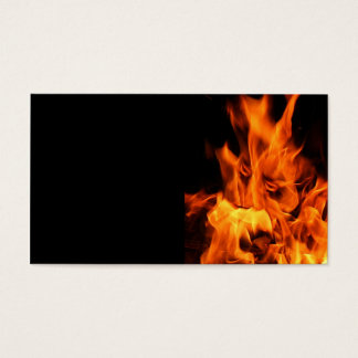 Face in the flames business card
