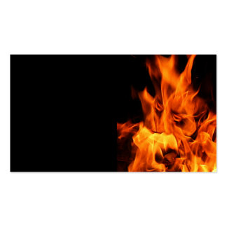 Face in the flames pack of standard business cards