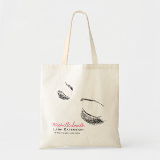 Face long lashes Lash Extension Tote Bag