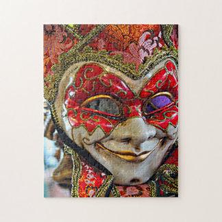 Face Mask Mardi Gras Louisana. Jigsaw Puzzle