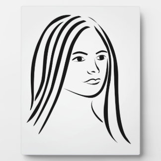 Face of a beautiful young woman photo plaques
