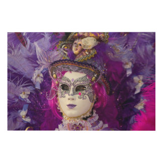 Face Of A Carnival Costume, Venice Wood Wall Decor