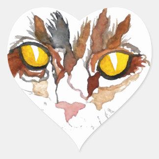Face of a Cat - Cat Eyes CricketDiane Art Heart Sticker