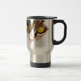Face of a Cat - Cat Eyes CricketDiane Art Travel Mug