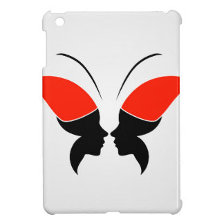 Face of a lady and butterfly iPad mini case