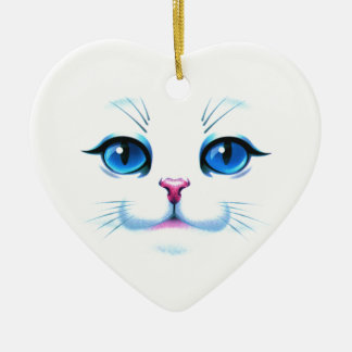 Face of cat christmas tree ornaments
