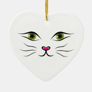 Face of cat ornaments