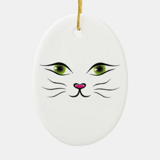 Face of cat christmas tree ornament
