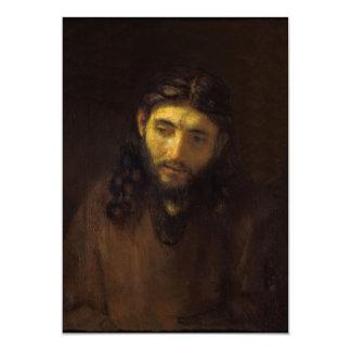 Face of Christ 13 Cm X 18 Cm Invitation Card