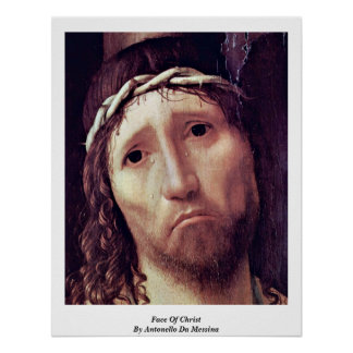 Face Of Christ By Antonello Da Messina Poster