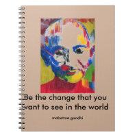 Face of Colours Mahatma Gandhi notebook