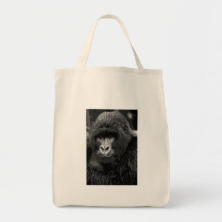 Face of Gorilla Grocery Tote Bag
