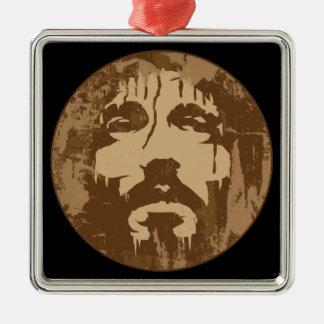 Face of Jesus Metal Ornament