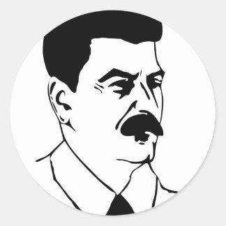 Face Of Joseph Stalin Classic Round Sticker