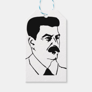Face Of Joseph Stalin Gift Tags