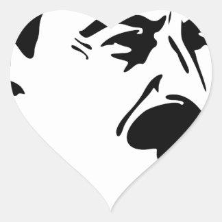 Face Of Joseph Stalin Heart Sticker