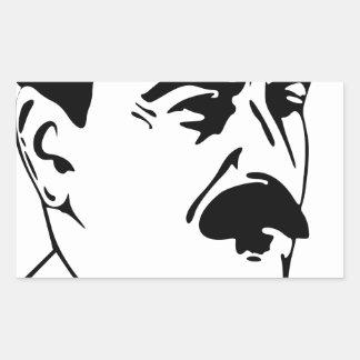 Face Of Joseph Stalin Rectangular Sticker