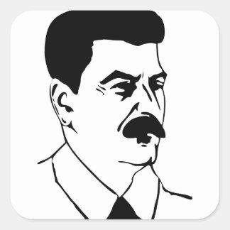 Face Of Joseph Stalin Square Sticker