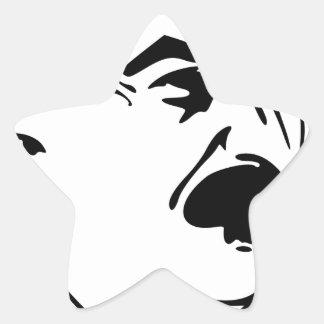 Face Of Joseph Stalin Star Sticker