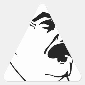 Face Of Joseph Stalin Triangle Sticker
