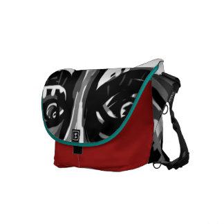 Face of Sanity Med Red Messenger-Bag by ART Messenger Bag