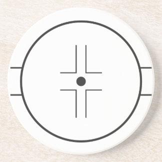 Face-off circle coaster