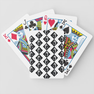 Face pattern bicycle playing cards