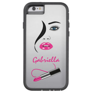 Face Pink Lipstick Mirror Xtreme iPhone 6 6S Cases