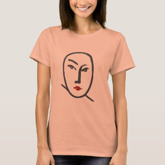 Face & Red Lips T-Shirt