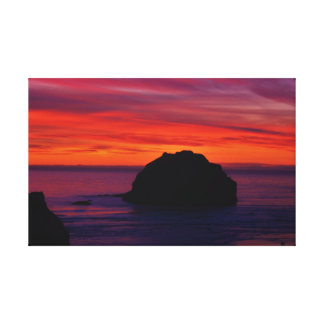 Face Rock Sunset Canvas Print