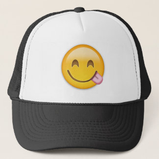 Face Savouring Delicious Food Emoji Trucker Hat