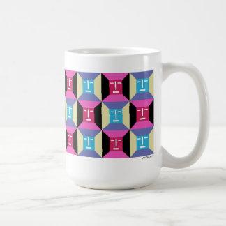 Face Squares 1 Basic White Mug