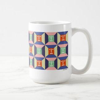 Face Squares 2 Basic White Mug