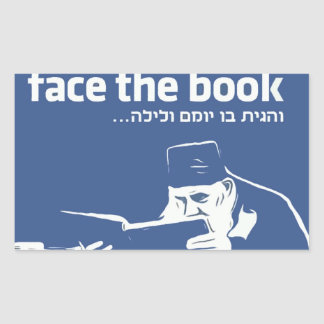 Face the Book Rectangular Sticker