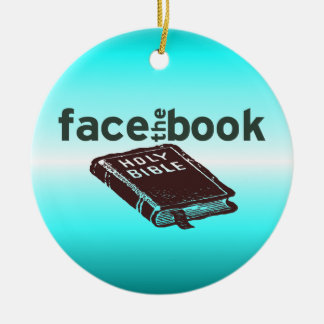 Face The Book Round Ceramic Decoration