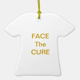 Face The Cure Ornament Gold