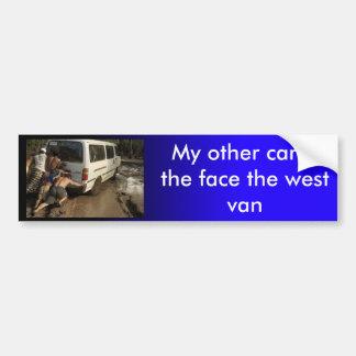Face The West bumper sticker