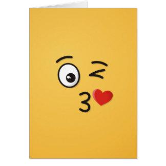 Face Throwing a Kiss Card