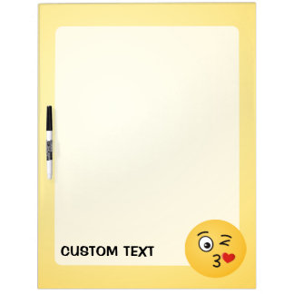 Face Throwing a Kiss Dry Erase Board