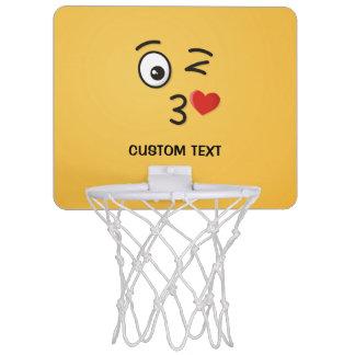 Face Throwing a Kiss Mini Basketball Hoop