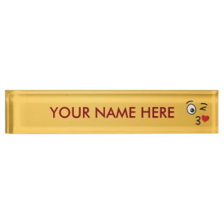 Face Throwing a Kiss Nameplate