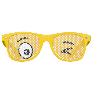 Face Throwing a Kiss Retro Sunglasses