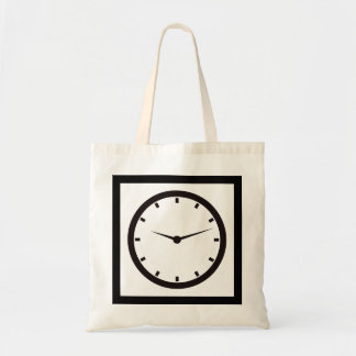 Face Time Clocked Tote Bag