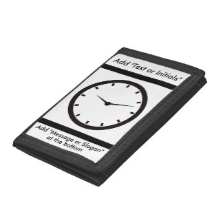 Face Time Clocked Trifold Wallets