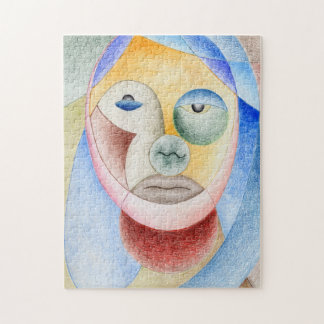Face with circles jigsaw puzzle