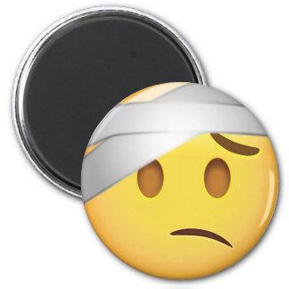 Face With Head-Bandage Emoji 6 Cm Round Magnet