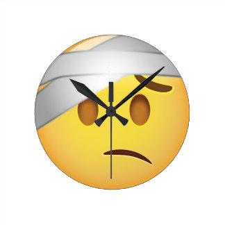Face With Head-Bandage Emoji Clock