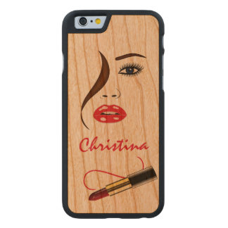 Face with Lipstick Carved® Wooden iPhone 6 Cases Carved® Cherry iPhone 6 Slim Case