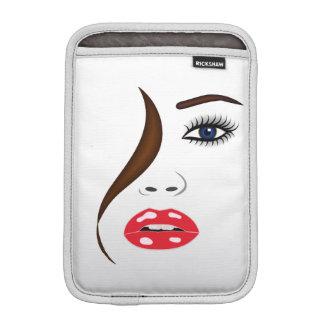 Face with Lipstick in the Mirror iPad Mini Sleeve iPad Mini Sleeve